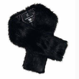 Accessories - New Unreal Fur Faux Fur Stole in Black